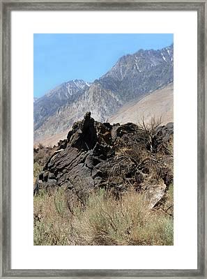 Lava-white Mountains II Framed Print