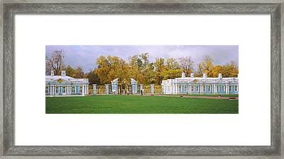 Lawn In Front Of A Palace, Catherine Framed Print by Panoramic Images