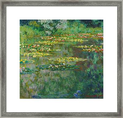 Le Bassin Des Nympheas Framed Print by Claude Monet