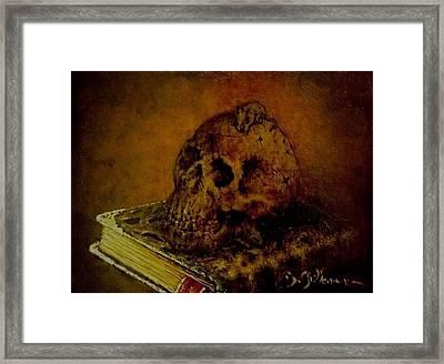 Le Livre Des Morts Framed Print by Guillaume Bruno