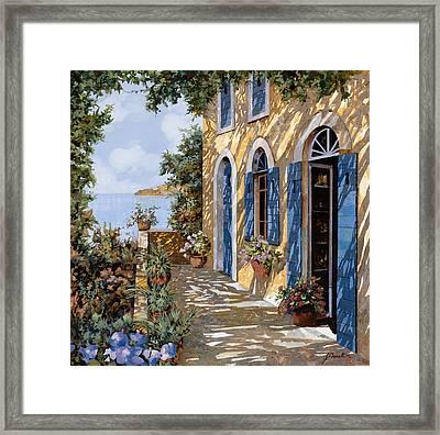 Le Porte Blu Framed Print by Guido Borelli