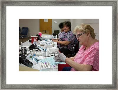 Lead Exposure Testing Framed Print