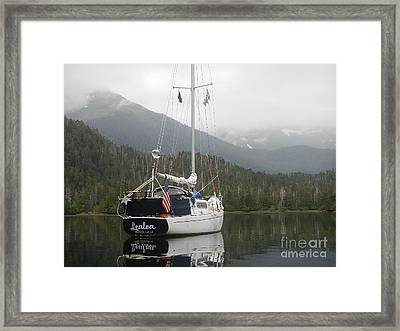 Lealea At Anchor Framed Print