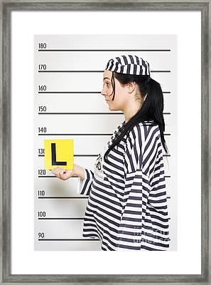 Learner Mug Shot Framed Print