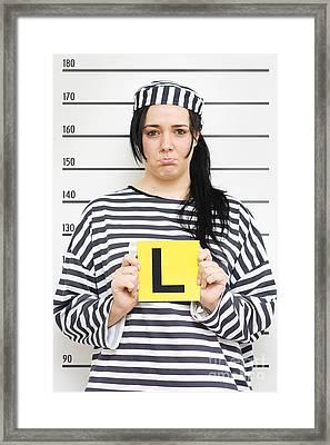 Learner Police Profile Framed Print