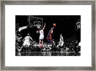 Lebron James Framed Print by Brian Reaves