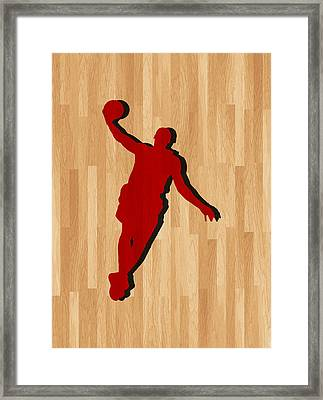 Lebron James Miami Heat Framed Print