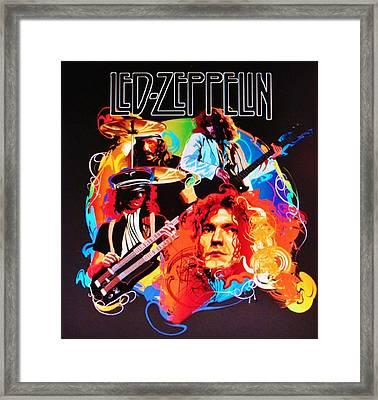 Led Zeppelin Art Framed Print