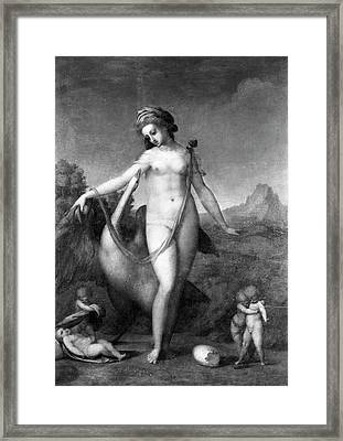 Leda And The Swan Framed Print by Granger