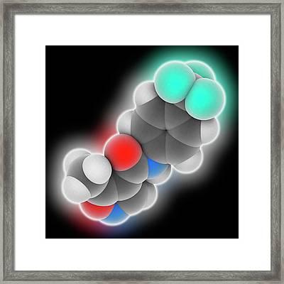 Leflunomide Drug Molecule Framed Print by Laguna Design