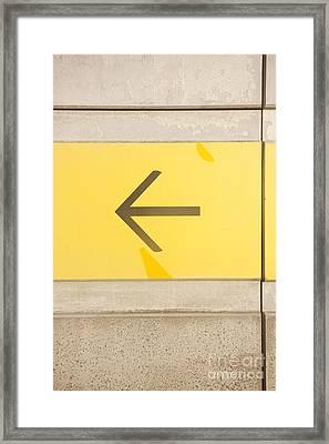 Left Direction Wall Framed Print