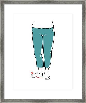 Leg Exercises Framed Print by Jeanette Engqvist