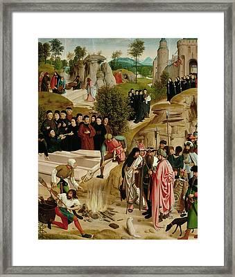 Legend Of The Relics Of St. John The Baptist Framed Print by Geertgen Tot Sint Jans