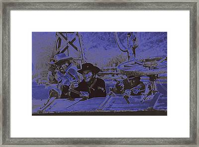 Leif Erickson Cameron Mitchell Mark Slade Attacking Apaches 2 High Chaparral Old Tucson 1969-2009 Framed Print by David Lee Guss