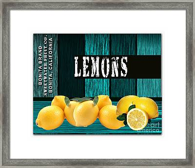 Lemon Farm Framed Print by Marvin Blaine