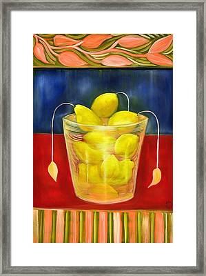 Lemon Glass Framed Print