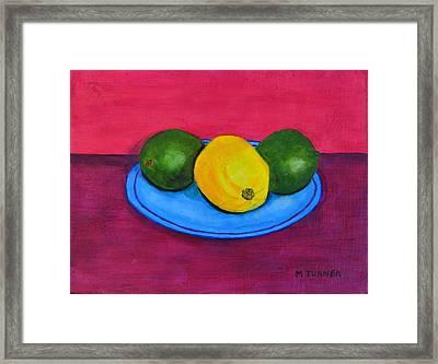 Lemon Or Lime Framed Print