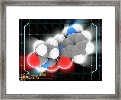 Lenalidomide Drug Molecule Framed Print by Laguna Design/science Photo Library