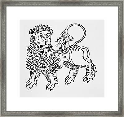 Leo Framed Print by Italian School