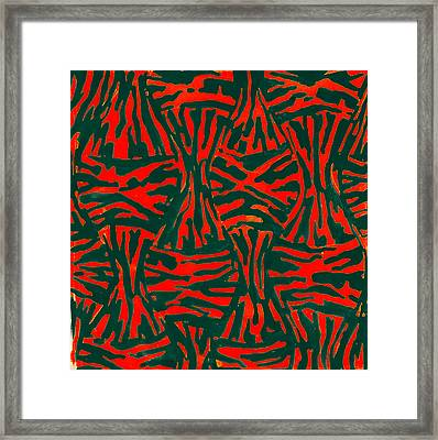 Leo Lipi, Abstract Painter Of Brilliantly Colored Paintings Framed Print