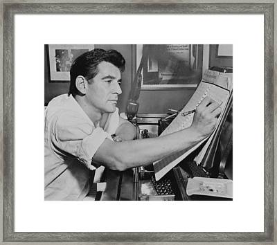 Leonard Bernstein Framed Print by Mountain Dreams