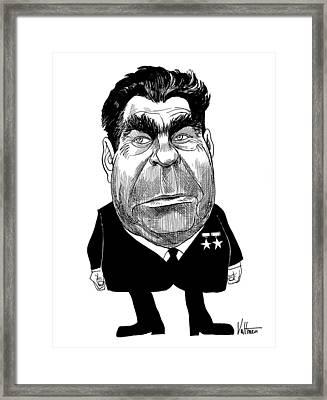 Leonid Brezhnev (1906-1982) Framed Print
