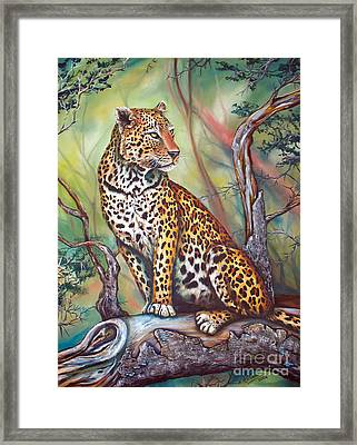 Leopard Framed Print by Nicole O'Connor