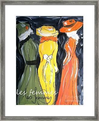 Les Femmes Framed Print