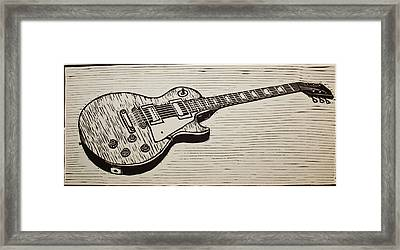 Les Paul Framed Print by William Cauthern