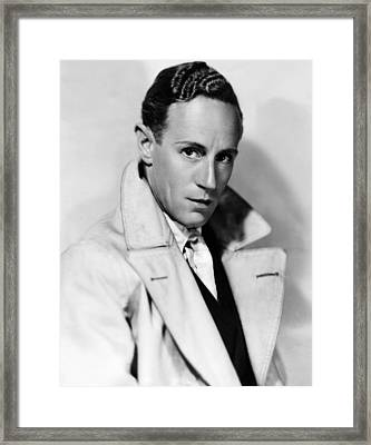 Leslie Howard, Ca. Mid-1930s Framed Print by Everett