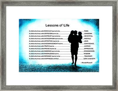 Lessons Of Life Framed Print by Mike Flynn