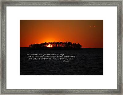 Let There Be Light Framed Print by Skip Willits