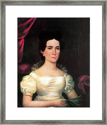 Letitia Tyler, First Lady Framed Print by Science Source