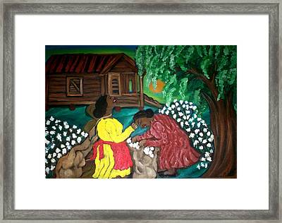 Framed Print featuring the painting Let's Go Home by Mildred Chatman