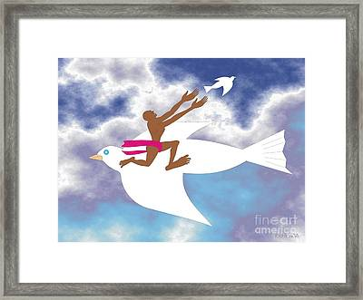 Letting Go 2 Framed Print by Walter Oliver Neal