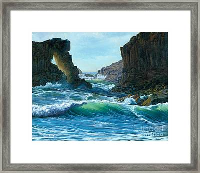 Letting The Ocean In Framed Print by Jeanette French
