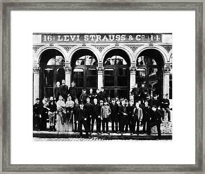 Levi Strauss & Co Framed Print by Granger