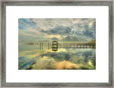 Levitating Dock Framed Print