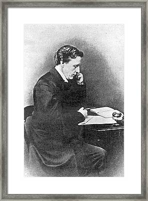 Lewis Carroll Alias Charles Lutwidge Framed Print by Mary Evans Picture Library