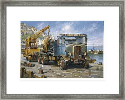 Leyland Hippo At Brixham. Framed Print by Mike  Jeffries