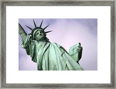 Liberty Lady Framed Print