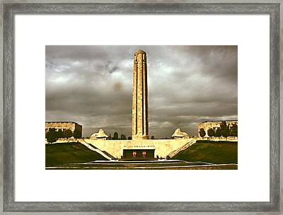 Liberty Memorial Framed Print by Lynne and Don Wright
