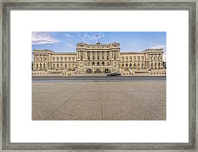 Framed Print featuring the photograph Library Of Congress by Peter Lakomy