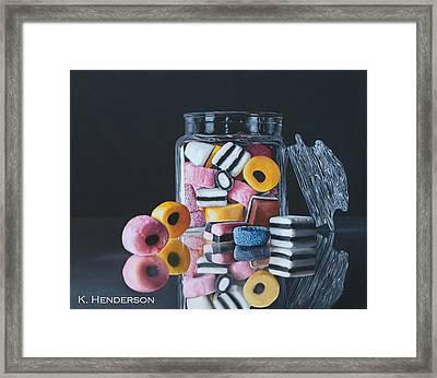 Licorice Allsorts By K Henderson Framed Print by K Henderson