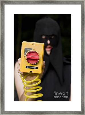Life And Death Kill Switch Executioner Framed Print by Jorgo Photography - Wall Art Gallery