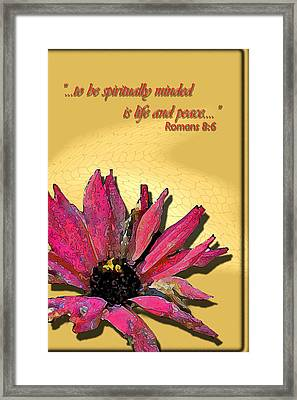 Life And Peace Framed Print by Larry Bishop