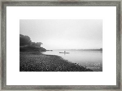 Life At Mekong River Framed Print by Setsiri Silapasuwanchai