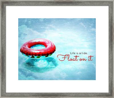 Life Is A Tide 2 Framed Print by Valerie Reeves