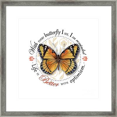 Life Is Better With Optimism Framed Print by Amy Kirkpatrick