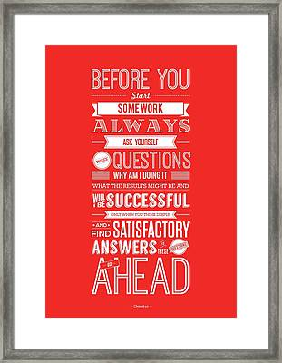 Life Motivating Quotes Poster Framed Print